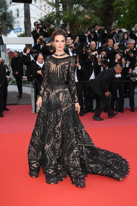 Models on the Cannes Film Festival Red Carpet 2018