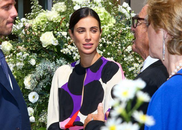 alessandra de osma con vestido de invitada de lunares de pertegaz en la boda de maría anunciata de liechtenstein y emanuele musini