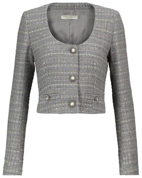 alessanda rich tweed blazer