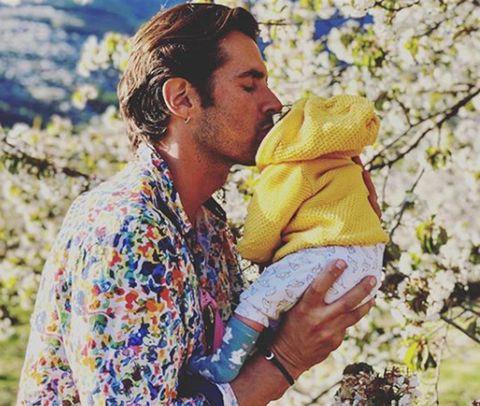 Yellow, Happy, Child, Outerwear, Love, Plant, Kiss, Smile, Hug,
