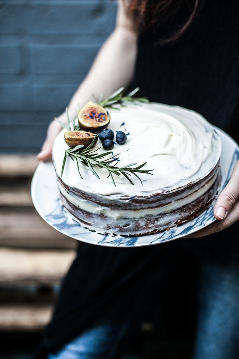 Blue, Buttercream, Food, Cake, Cake decorating, Icing, Hand, Cream, Torte, Dessert,