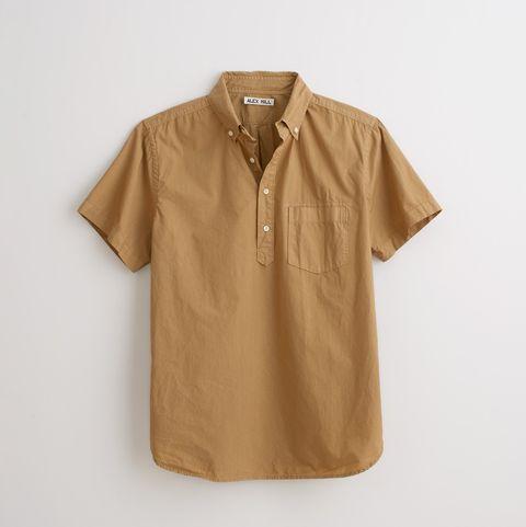 khaki popover shirt