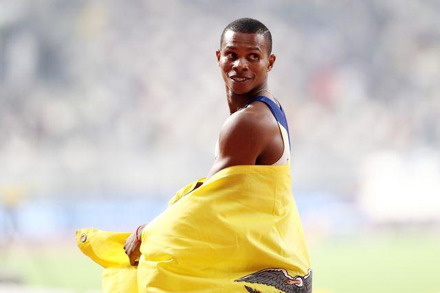 alex quiñonez, suspendido por saltarse controles, fue bronce mundial de 200 metros en doha 2019