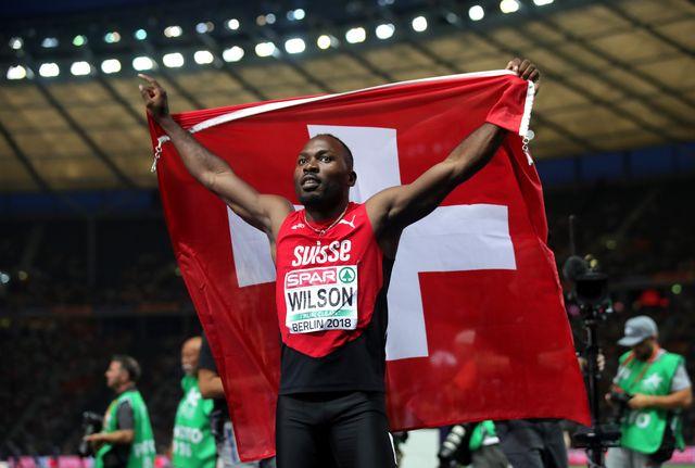 el velocista suizo alex wilson en el campeonato de europa