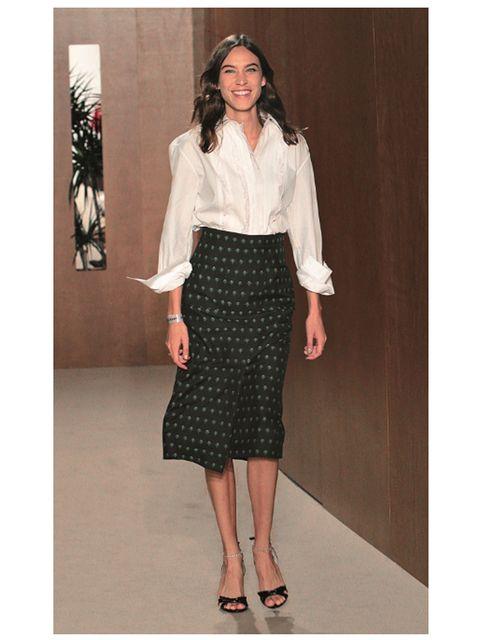 Clothing, Pencil skirt, Fashion, Dress, Pattern, Suit, Waist, Neck, Blouse, Design,