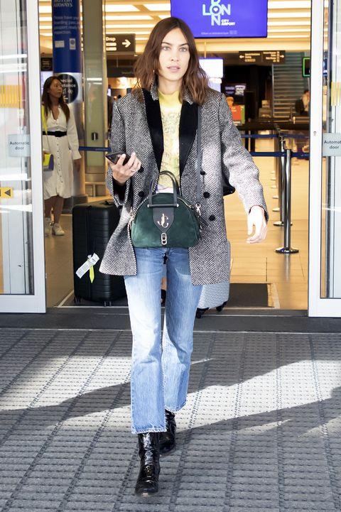 Alexa Chung At London City Airport