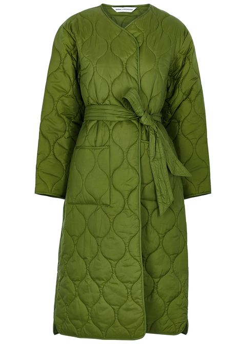 barbour by alexa chung martha olive quilted shell coat