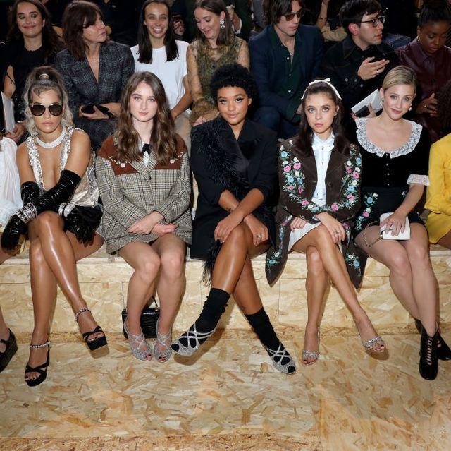 Miu Miu : Front Row - Paris Fashion Week - Womenswear Spring Summer 2020