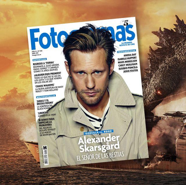 alexander skarsgard en la portada de fotogramas de abril de 2021