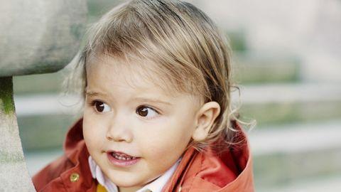 Child, Face, Skin, Cheek, Toddler, Blond, Child model, Eye, Smile, Outerwear,