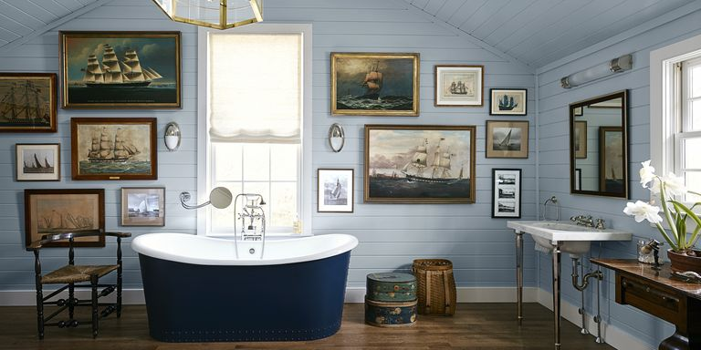 30 Great Pictures And Ideas Of Old Fashioned Bathroom Tile: How To Decorate Blue Bathrooms