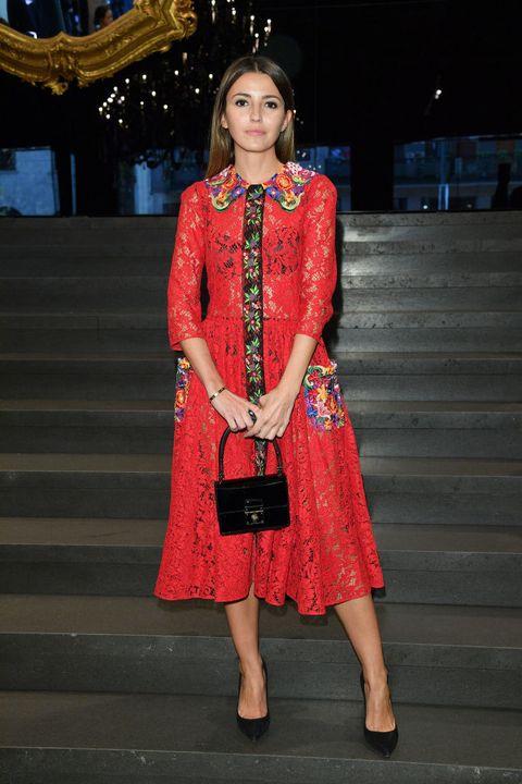 Alexandra Pereira en el desfile de Dolce & Gabbana