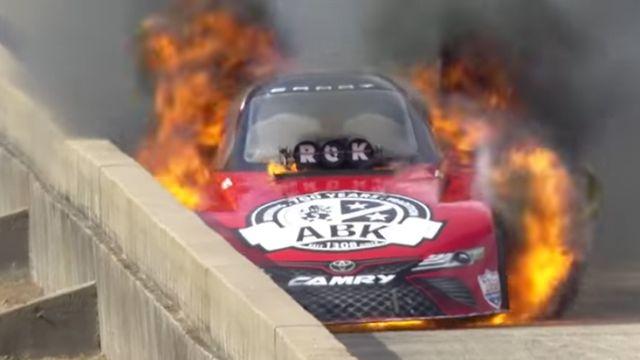 alexis dejoria, funny car, fire, texas motorsport, dallas