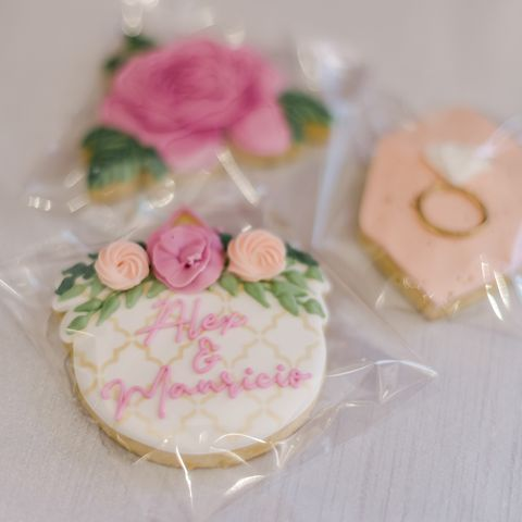 personalized cookies for alex drummond's wedding shower