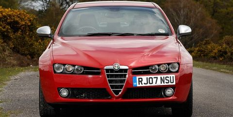 Land vehicle, Vehicle, Car, Executive car, Red, Alfa romeo 159, Automotive design, Grille, Alfa romeo brera, Blue,