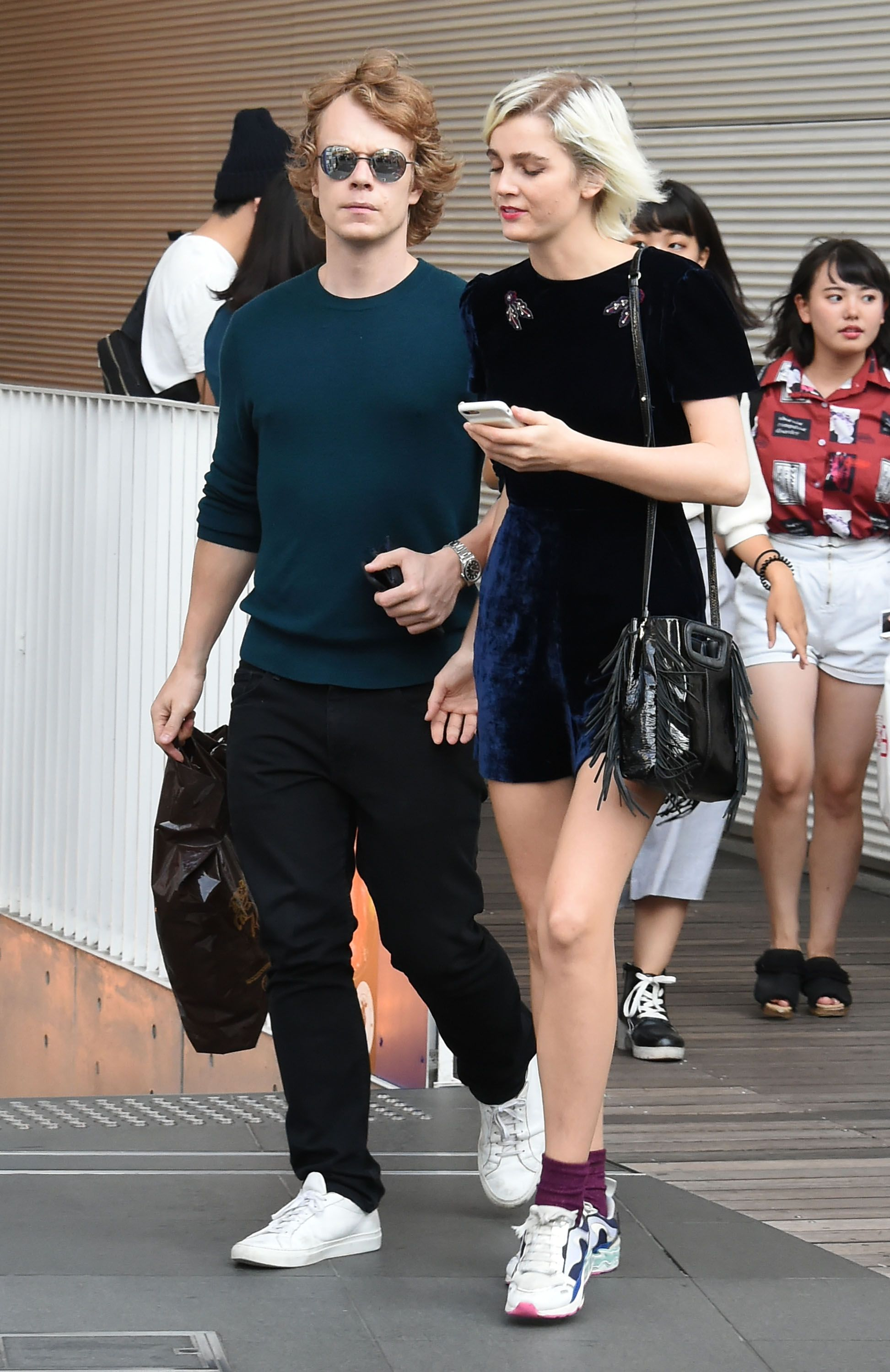 Alfie Allen (Theon Greyjoy) and Allie Teilz It's not clear exactly how long the couple have been together , but they've been making headlines since summer 2017.