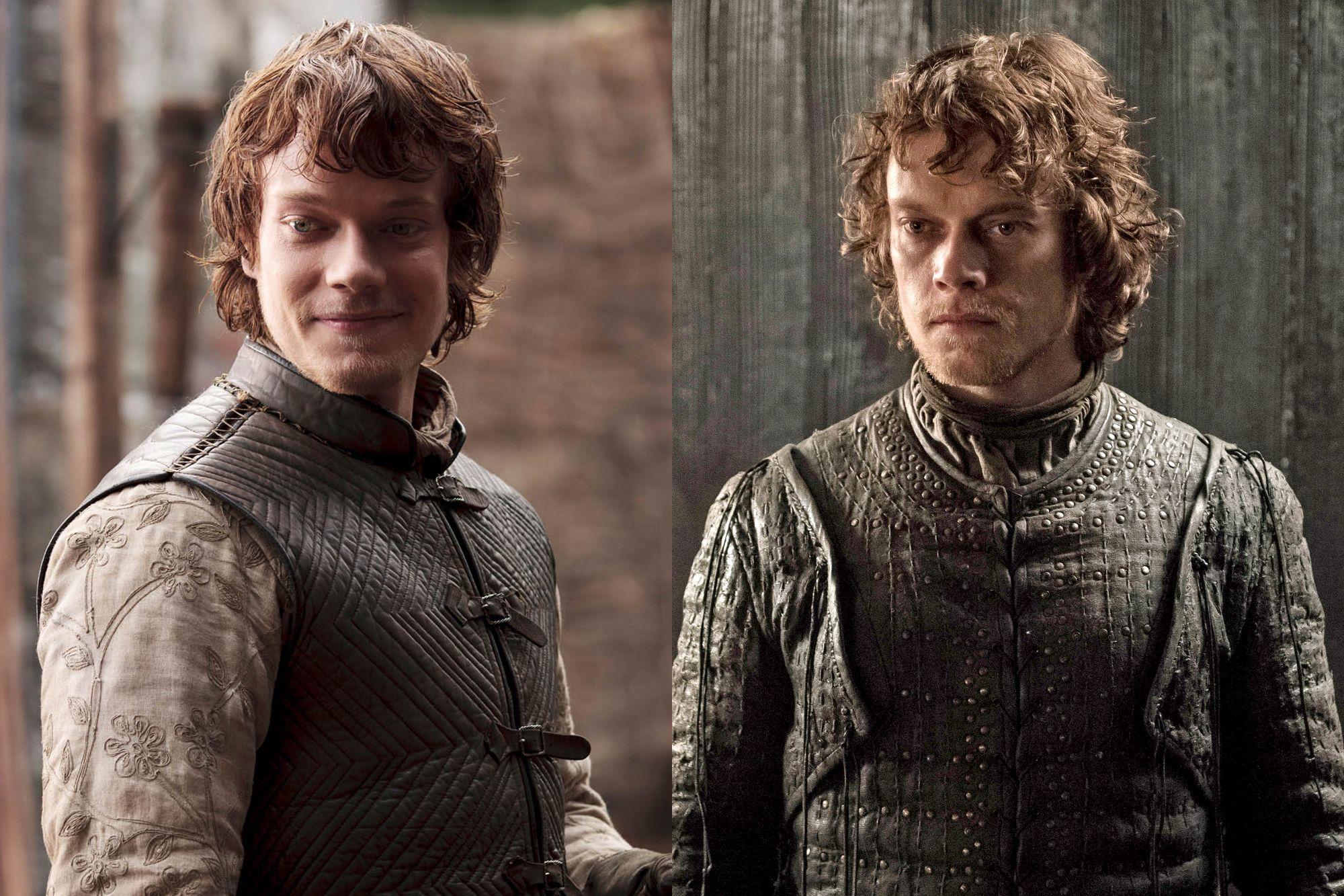 Alfie Allen as Theon Greyjoy Season One to Season Eight.