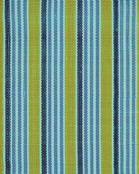 Alfombra de rayas verdes y azules