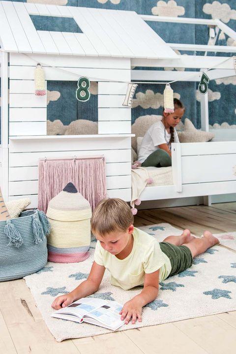 Alfombra infantil de algodón lavable