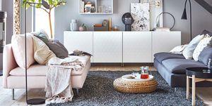 Salón decorado por IKEA