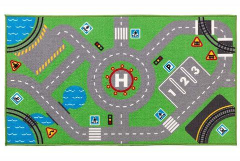 Alfombra infantil con dibujo de carreteras Storabo