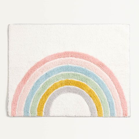 Alfombra con forma de arcoíris
