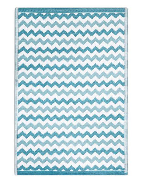 alfombra de polipropileno exterior azul