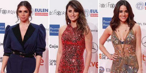 Red carpet, Clothing, Carpet, Fashion model, Dress, Fashion, Long hair, Hairstyle, Neck, Flooring,