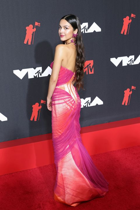 the red carpet of the 37th edition of the mtv video music awards 2021 held in new york with guests like megan fox, doja cat, camila cabello, jlo