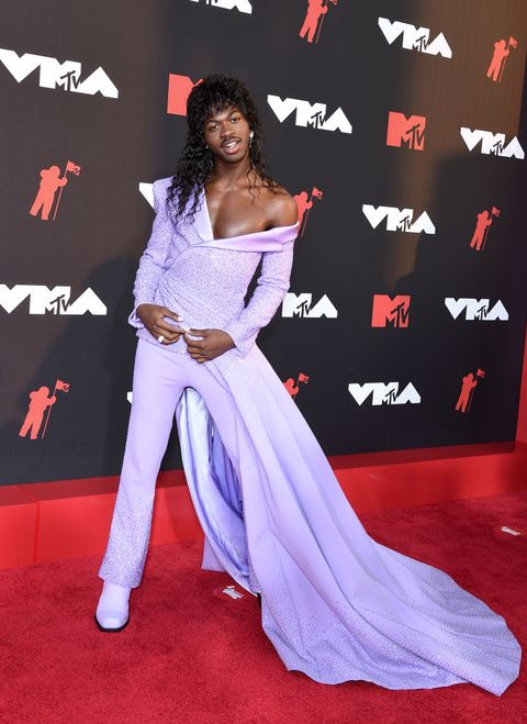 the red carpet of the 37th edition of the mtv video music awards 2021 held in new york with guests such as megan fox, doja cat, camila cabello, jlo