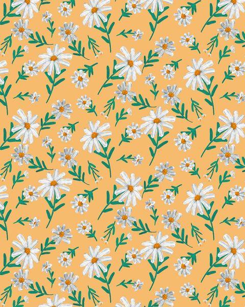 alfombra vinílica con motivos florales