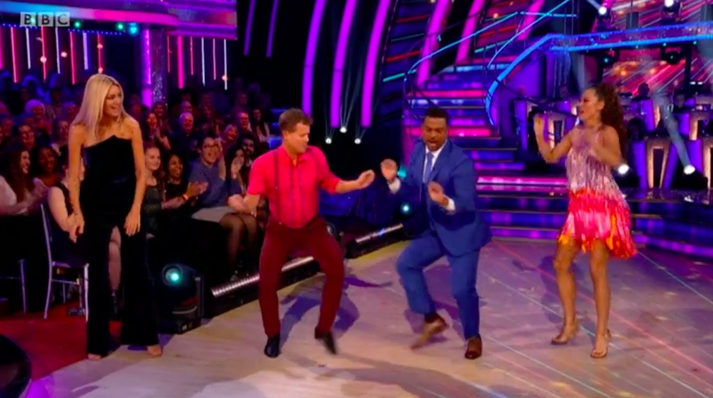 Strictly Come Dancing guest judge Alfonso Rebeiro does the Carlton dance on live show