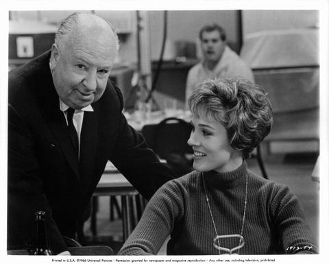 Alfred Hitchcock And Julie Andrews In 'Torn Curtain'