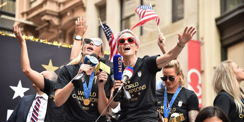 All the Photos of Megan Rapinoe, Alex Morgan, and More at the USWNT's Ticker-Tape Parade
