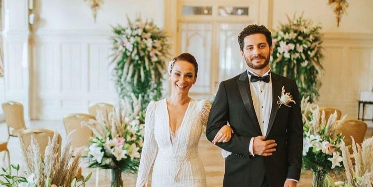 Ali Yağcı with his wife Başak Özen