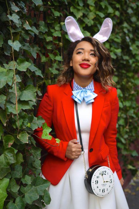 diy white rabbit alice in wonderland costume