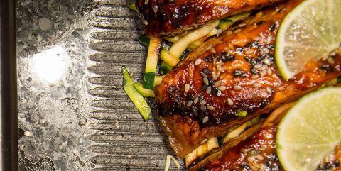 Food, Dish, Cuisine, Ingredient, Chicken meat, Lime, Meat, Produce, Roasting, Teriyaki,