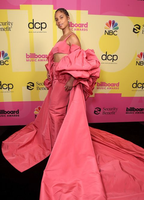 los angeles, ca   may 23  2021 billboard music awards    pictured in this image released on may 23, alicia keys arrives to the 2021 billboard music awards, broadcast on may 23, 2021 at microsoft theater in los angeles, california     photo by todd williamsonnbcnbcu photo bank via getty images via getty images