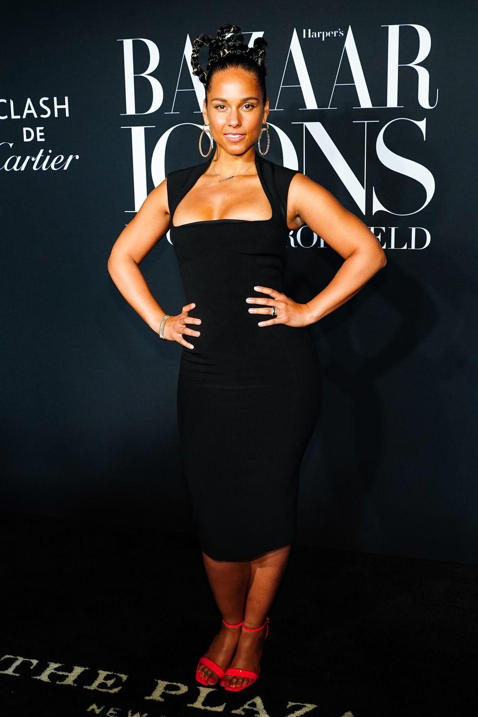 Alicia Keys wearing Cartier jewelry