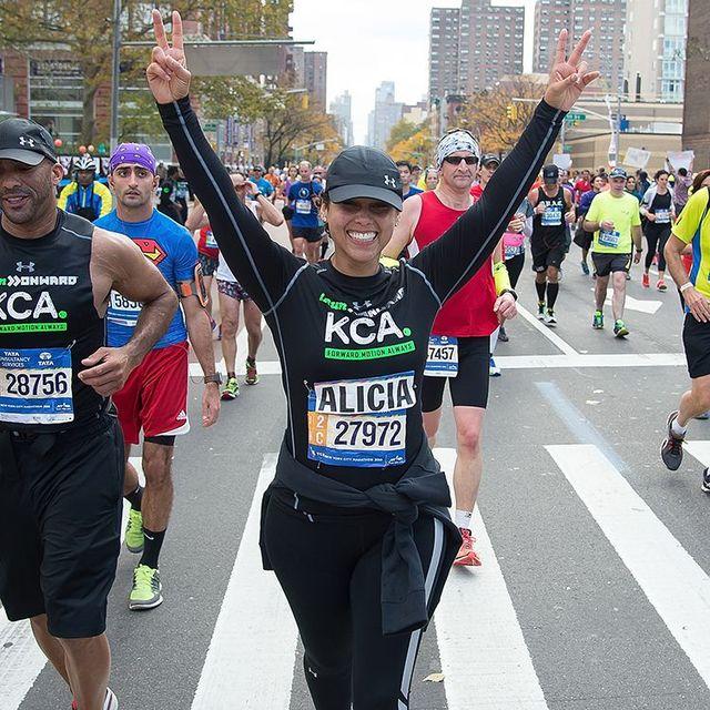 alicia keys corriendo un maratón