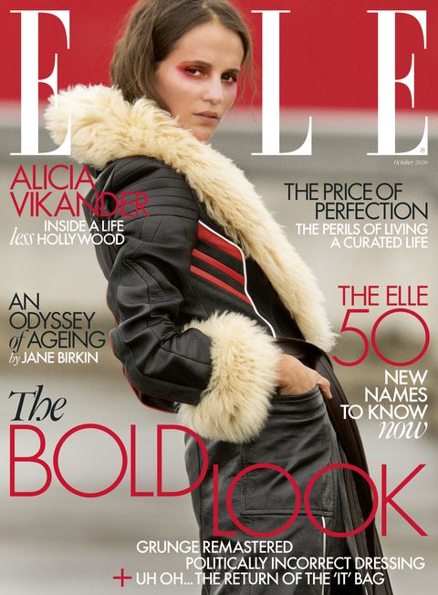 alicia vikander elle october 2020