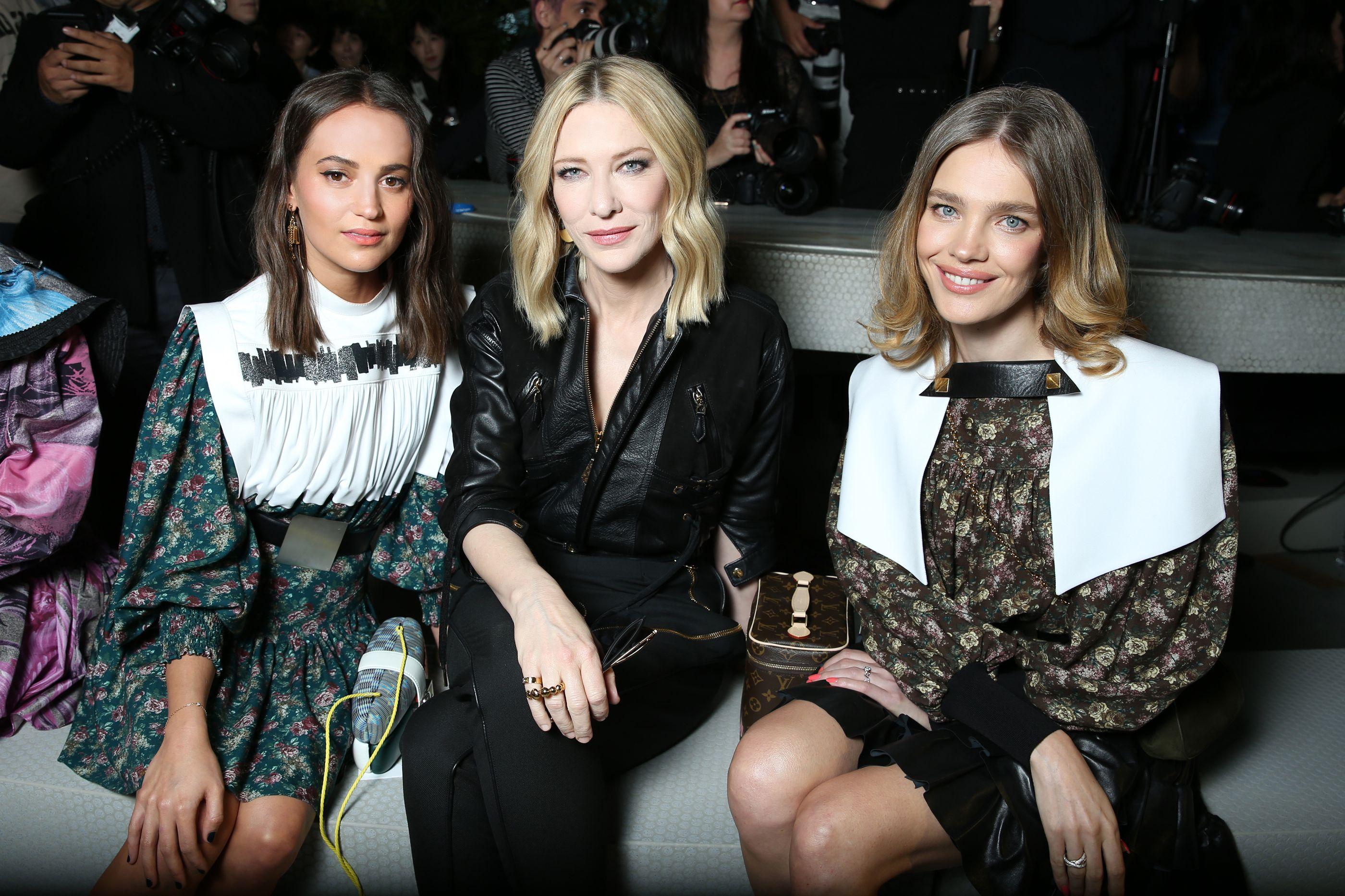 Alicia Vikander, Cate Blanchett, and Natalia Vodianova in the front row.