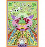 Marijuana strain poster Aliens on Moonshine from Califari