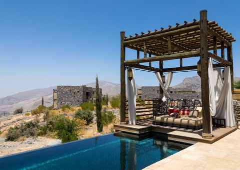 alila jabal akhdar hotel villa with a pool, al hajar mountains, jebel akhdar, oman