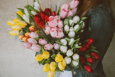 Flower, Bouquet, Floristry, Cut flowers, Flower Arranging, Tulip, Plant, Floral design, Flowering plant, Petal,