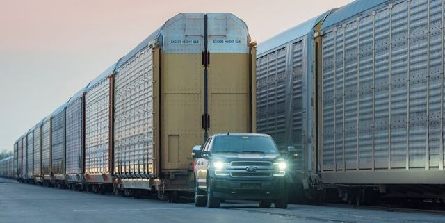 all electric f 150 towing train