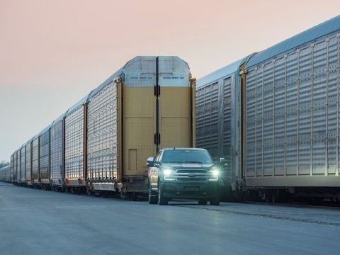How Much Does A Ford F150 Weigh >> Ford Electric F 150 Tows A Train The Physics Of Ford S Ev