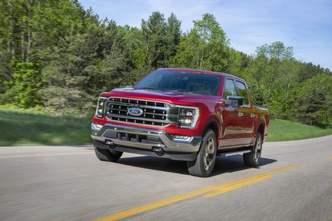 all new f 150 lariat in rapid red metallic tinted clearcoat