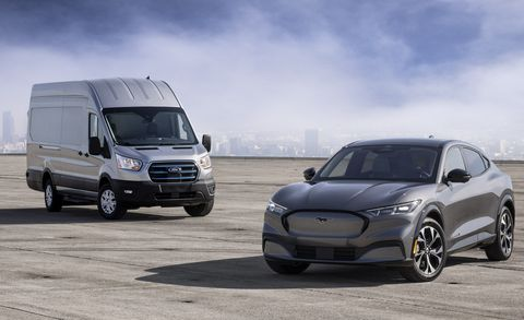 ford e transit and mustang mach e
