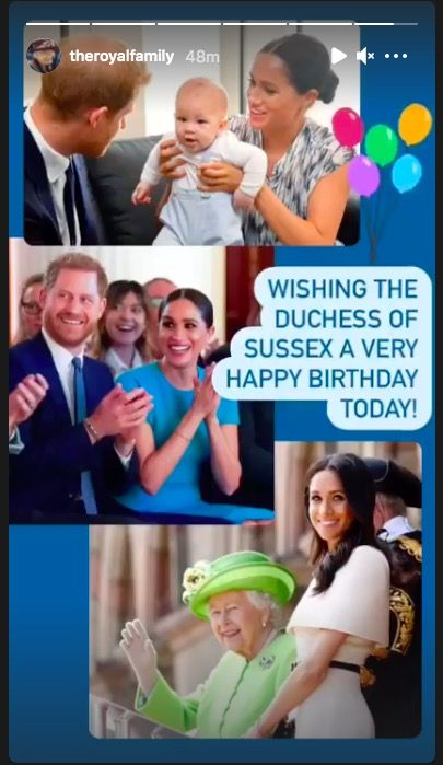 All of the Royal Family's special birthday messages to Meghan Markle